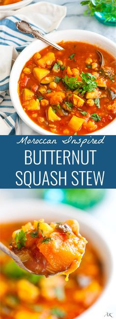 ... Vegetarian on Pinterest | Butternut squash, Chickpeas and One pot