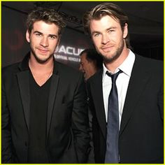 Those are some great genes there... Liam and Chris Hemsworth