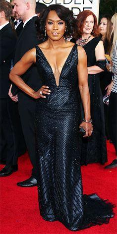 Angela Bassett - Red Carpet Arrivals - Golden Globes 2014 - InStyle