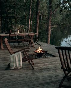 Peek Inside An Inspiring Country House in Finland - Nordic Design Cabins In The Woods, House In The Woods, Haus Am See, Lakeside Cabin, Lakeside Living, Villa, Forest House, Outdoor Furniture Sets, Outdoor Decor