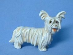 ".. fun old Bosse Goebel Germany Skye  Silky terrier 6"" mint"