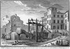 Obelisco di Montecitorio a pezzi nel Settecento