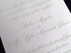 My talented sister @marleantucker AKA #ATLCalligrapher!  This is her Rook Script Invite #Atlanta #Calligrapher