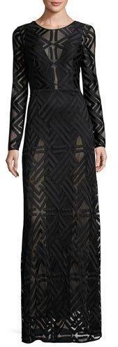 82c1fae94a7c BCBGMAXAZRIA Veira Long-Sleeve Lace Maxi Dress