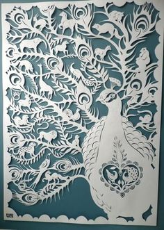 Peacock Kingdom by Amy Williams.  This is beautiful!