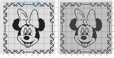 Cuscino filet uncinetto con volto di Disney Minnie idea cuscino bimbo