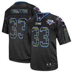 797cbd3a Michael Griffin Men's Elite Black Jersey: Nike NFL Tennessee Titans Camo  Fashion #33 15th Season Patch