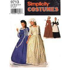 Womens Costume Pattern Simplicity 9713 by finickypatternshop, $7.75