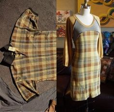refashion men's shirt into a dress
