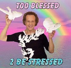 Too Blessed 2 Be Stressed Sticker