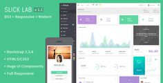 SlickLab  Responsive Admin Dashboard Template