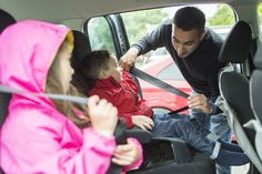 Father worried about her children's safety in a car