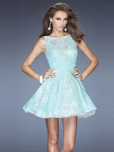 Wishesbridal Sheer Back Green Scoop Short #Lace A Line #Cocktail Homecoming Dress Clf0036