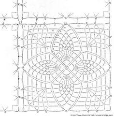 pineapple square motif