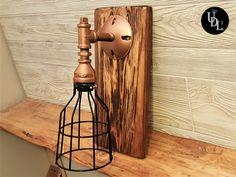 Pipe Lighting, Mason Jar Lighting, Rustic Lighting, Rustic Light Fixtures, Vanity Light Fixtures, Wide Mouth Mason Jars, Glass Insulators, Live Edge Wood, Wood Steel