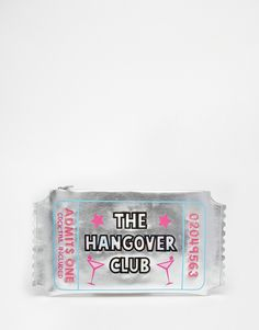 Buy Skinnydip 'Hangover Club' Novelty Clutch Bag at ASOS. With free delivery and return options (Ts&Cs apply), online shopping has never been so easy. Get the latest trends with ASOS now. Unique Purses, Unique Bags, Hangover, Asos, Novelty Bags, Best Shopping Sites, Cute Bags, Fashion Bags, Clutch Bag