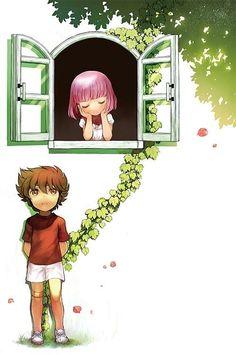 Super Cute Seiya and Saori illustration! Saint seiya
