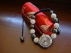 Náramky - Strieborné shamballa hodinky - 4469890_