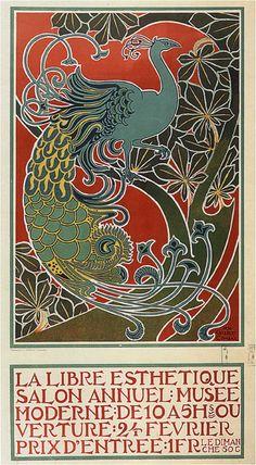 The Free Aesthetic 1898 Vintage Art Nouveau Reproduction