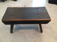 Primitive Country Wooden Foot Stool Painted