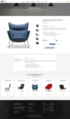Umbra is the premium PSD template for interior and furniture shop. It is designed exclusively for furniture shops but it can be suitable for any kind of ecommerce shops thanks to it. Interior Design Website, Website Design Layout, Web Layout, Layout Design, Website Designs, Ecommerce Shop, Ecommerce Website Design, Website Design Inspiration, Shops