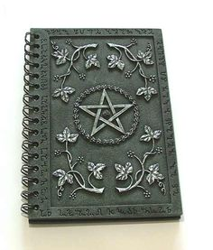 Wicca Book of Shadows Beautifully crafted with slate effect covers bearing a…