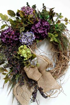 Elegant Country Wreath Front Door Wreath by FloralsFromHome