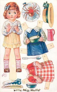 A group including Nursery Rhyme Characters  LITTLE MISS MUFFET