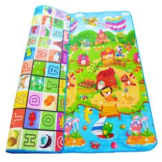 $31.94 - Awesome 0.5cm Double-sided Baby Crawling Play Mat Children Puzzle Pad Kids Rug Gym Soft Floor Game Carpet Toy Eva Foam Developing Mats - Buy it Now!