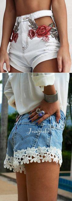Переделка джинсовых шортов