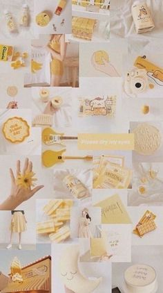Wall paper aesthetic collage yellow 34 ideas for 2019 - Gelb Yellow Aesthetic Pastel, Aesthetic Pastel Wallpaper, Aesthetic Colors, Retro Wallpaper, Aesthetic Collage, Colorful Wallpaper, Girl Wallpaper, Aesthetic Wallpapers, Marvel Wallpaper