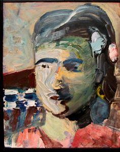 Head of a Woman II, 1960. Oil on fiberboard (1922-1993) SFMOMA