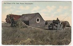 Pioneer Homesteaders SOD House of North Dakota 1912 Postcard | eBay