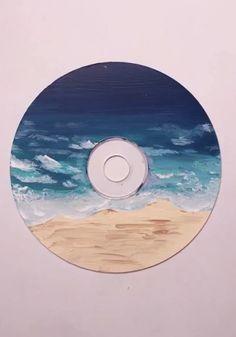 Record Wall Art, Cd Wall Art, Cd Art, Cute Paintings, Mini Canvas Art, Vinyl Art, Art Inspo, Instagram, Drawing
