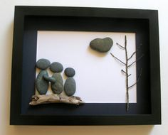 Personalized Family Gift and Custom Stone Art Work by SticksnStone, $60.00