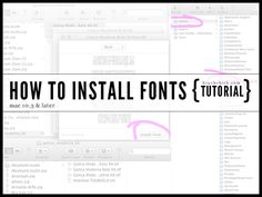 How to install fonts on your Mac (10.3+)