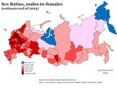 Sex ratio in Russia, 2013