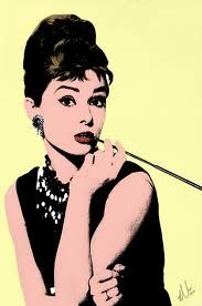 Audrey Hepburn by Andy Warhol ...BTW, Please Check Out This Artist's Work -->: http://universalthroughput.imobileappsys.com/site2/ The Gallery Of An Acrylic Creationist here: http://universalthroughput.imobileappsys.com/site2/gallery.php