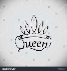 The element of graphic design, printing on t-shirts. Vector images for printing on fabric or paper. King Crown Drawing, Queen Drawing, Queen Wallpaper Crown, Queens Wallpaper, Head Tattoos, Sleeve Tattoos, Letras Queen, Sad Girl Drawing, Crown Tattoo Design