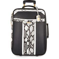 Black snake print suitcase - make up bags / luggage - bags / purses - women Cute Luggage, Luggage Bags, River Island Luggage, Womens Luggage, Womens Purses, Snake Print, Bag Making, Sale Items, Purses And Bags