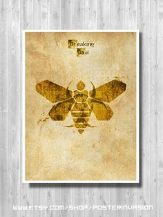 Breaking Bad New Mexico print  Minimalist bee by PosterInvasion