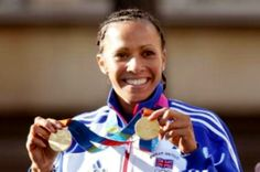 Great Britain's Olympic gold medallist, Dame Kelly Holmes