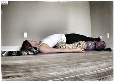 Our customer, Katie Overcash, demonstrating a restorative bridge pose with Inner Space Oval Bolsters. Ashtanga Yoga, Iyengar Yoga, Yin Yoga, Restorative Yoga Sequence, Yoga Bolster, Reiki Meditation, Yoga Props, Bridge Pose, Relaxing Yoga