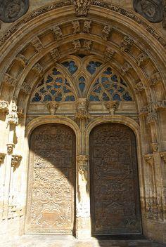 A door in Avilés, Asturias, Spain.