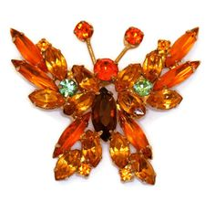 D and E Juliana Butterfly Brooch Pin in Fall by TheRoamingEclectic, $50.00