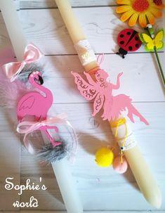 Χειροποίητες λαμπάδες με ξύλινο φλαμίγκο & νεράιδα  #Πάσχα2018 #λαμπάδες #flamingo #handmade #eastercrafts #handmadegreece
