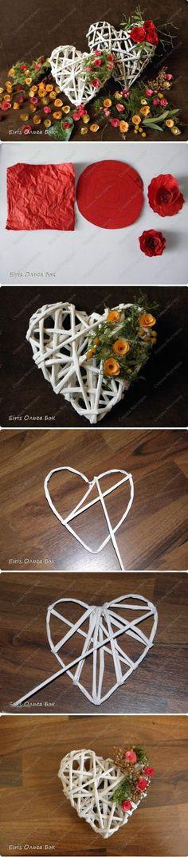 立體心摺紙編織花朵擺件手工DIY教程手工製作教程手工DIY製作創意製作|創意生活|巧樂多