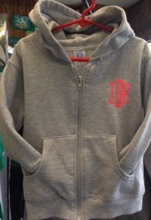 Toddler Monogrammed Full Zip Fleece by WhoDeyPromotions on Etsy, $25.00