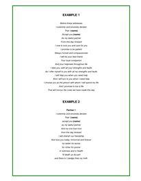 Examples of wedding vows secular non religious humanist atheist examples of wedding vows 6 is my favorite junglespirit Choice Image
