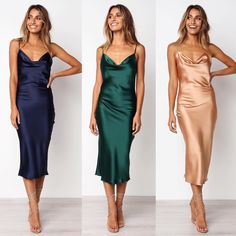 Women's Bridesmaid Dress 2019 Spaghetti Straps Party Gown Dress for Wedding Party Women's Bridesmaid Dress 2019 Spaghetti Straps Party Gown Dress for Wedding Party sold by Everbeauties Prom Dress on Storenvy Silk Bridesmaid Dresses, Satin Dresses, Elegant Dresses, Silk Dress, Beautiful Dresses, Nice Dresses, Dress Up, Prom Dresses, Formal Dresses
